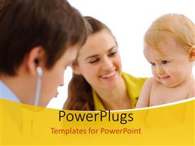 PowerPlugs: PowerPoint template with medical concept depicting family health with white color