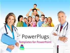 PowerPoint template displaying medical concept with family health concept