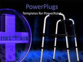 PowerPlugs: PowerPoint template with a medical sign with a blackish background