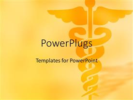 PowerPlugs: PowerPoint template with a medical sign with yellowish background and place for text