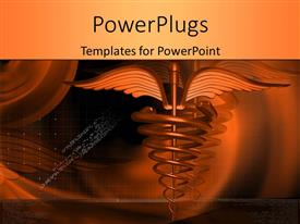 PowerPlugs: PowerPoint template with medical symbol on orange color background