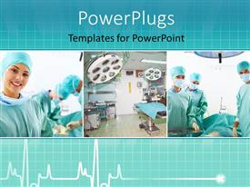 PowerPlugs: PowerPoint template with medical team performing an operation in a hospital