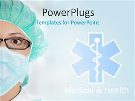 PowerPlugs: PowerPoint template with medical theme with doctor and medical sign