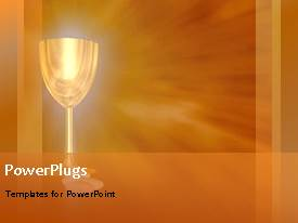 PowerPlugs: PowerPoint template with metal glass with brown color