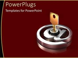 PowerPlugs: PowerPoint template with military man with shades on making phone call over blue cloudy sky