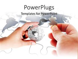PowerPlugs: PowerPoint template with missing puzzle piece business planning problems and solutions globe world communication