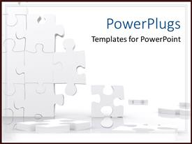 PowerPlugs: PowerPoint template with missing puzzle pieces falling apart problem solution business