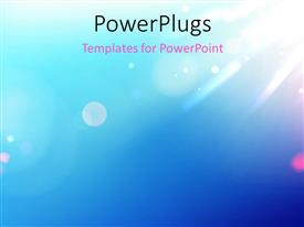 PowerPlugs: PowerPoint template with a mixture of blue and green in the background