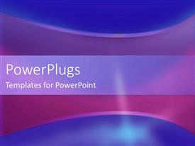 PowerPlugs: PowerPoint template with a mixture of blue and purple background with place for text in the middle