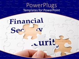 PowerPlugs: PowerPoint template with a mixture of bluish and brownish background