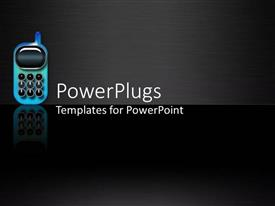 PowerPlugs: PowerPoint template with a mobile phone with its reflection