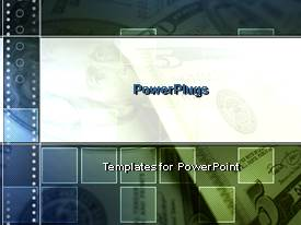 PowerPlugs: PowerPoint template with money bills coins economy cash credit debit banks stock market
