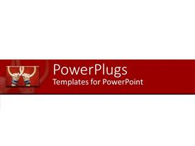 PowerPlugs: PowerPoint template with montage of American football player holding up two rings
