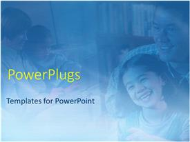 PowerPlugs: PowerPoint template with mother and father with boy and girl children