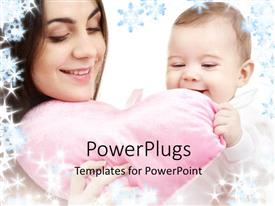 PowerPlugs: PowerPoint template with a mother with a kid and a heart