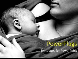 Beautiful slide deck enhanced with a mother with her small child