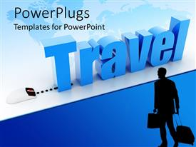 PowerPlugs: PowerPoint template with a mouse connected to a word travel