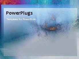 PowerPlugs: PowerPoint template with a moving background of bluish color with a place for the text