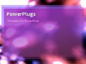 PowerPlugs: PowerPoint template with a moving background with a bullet point