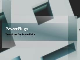PowerPlugs: PowerPoint template with a moving background with a lot of text in front and blackish background