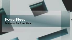 PowerPoint template displaying a moving background with a lot of text in front and blackish background - widescreen format