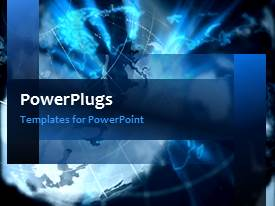 PowerPlugs: PowerPoint template with a moving background related to Earth