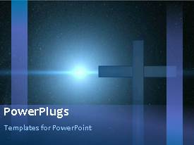 PowerPlugs: PowerPoint template with a moving cross in the background and a light