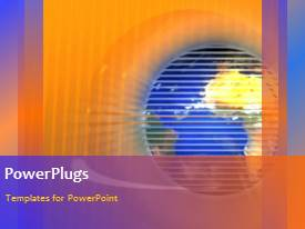 PowerPlugs: PowerPoint template with a moving globe in the background with an orange background