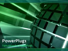PowerPlugs: PowerPoint template with the moving globe with a bullet point and place for text