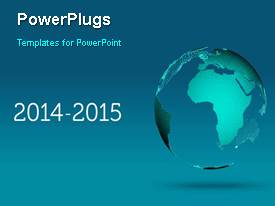 PowerPlugs: PowerPoint template with a moving globe with a sentence in the background