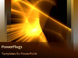 PowerPlugs: PowerPoint template with a moving golden background with a sentence