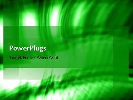 PowerPoint template displaying a moving greenish background with a bullet point