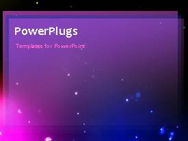 PowerPlugs: PowerPoint template with moving particles with different colors