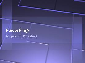 PowerPlugs: PowerPoint template with a moving purple background with a number of lines