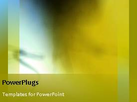 PowerPlugs: PowerPoint template with a moving yellowish background with a bullet point and place for text