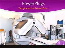 PowerPlugs: PowerPoint template with mRI machine with lab equipment, hospital, medical testing