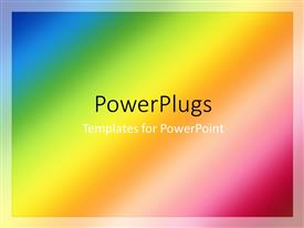 PowerPlugs: PowerPoint template with multi color blurred abstract background