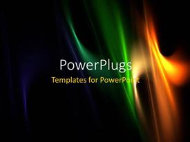 PowerPoint template displaying multi color elegant flames with black color