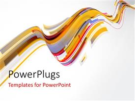 PowerPoint with multi color technology waves with light grey