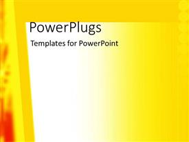 PowerPlugs: PowerPoint template with a multi colored yellow and white background with red design at the side