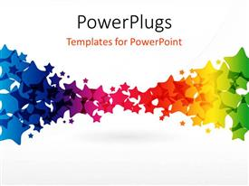 PowerPoint template displaying multi vector color stars with grey color