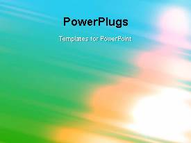PowerPlugs: PowerPoint template with a multicolor background with a bullet point