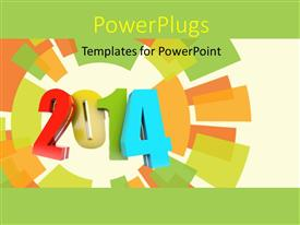 PowerPlugs: PowerPoint template with a multicolor background with the representation of new year