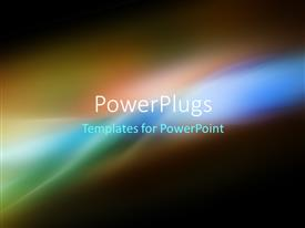 PowerPlugs: PowerPoint template with multicolor digital fractal background