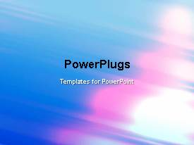 PowerPlugs: PowerPoint template with a multicolor moving background with a bullet point