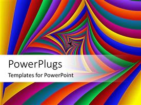 PowerPlugs: PowerPoint template with multicolored abstract of geometric shapes with white background