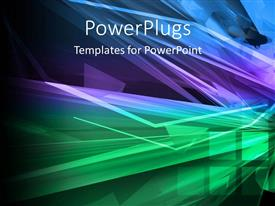 PowerPlugs: PowerPoint template with a multicolored background with a number of lines