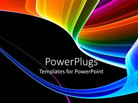 PowerPlugs: PowerPoint template with a multicolored background with place for text