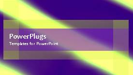 PowerPoint template displaying a multicolored background with a sentence - widescreen format