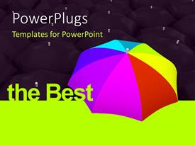 PowerPlugs: PowerPoint template with multicolored umbrella stand out from the rest in black. the best